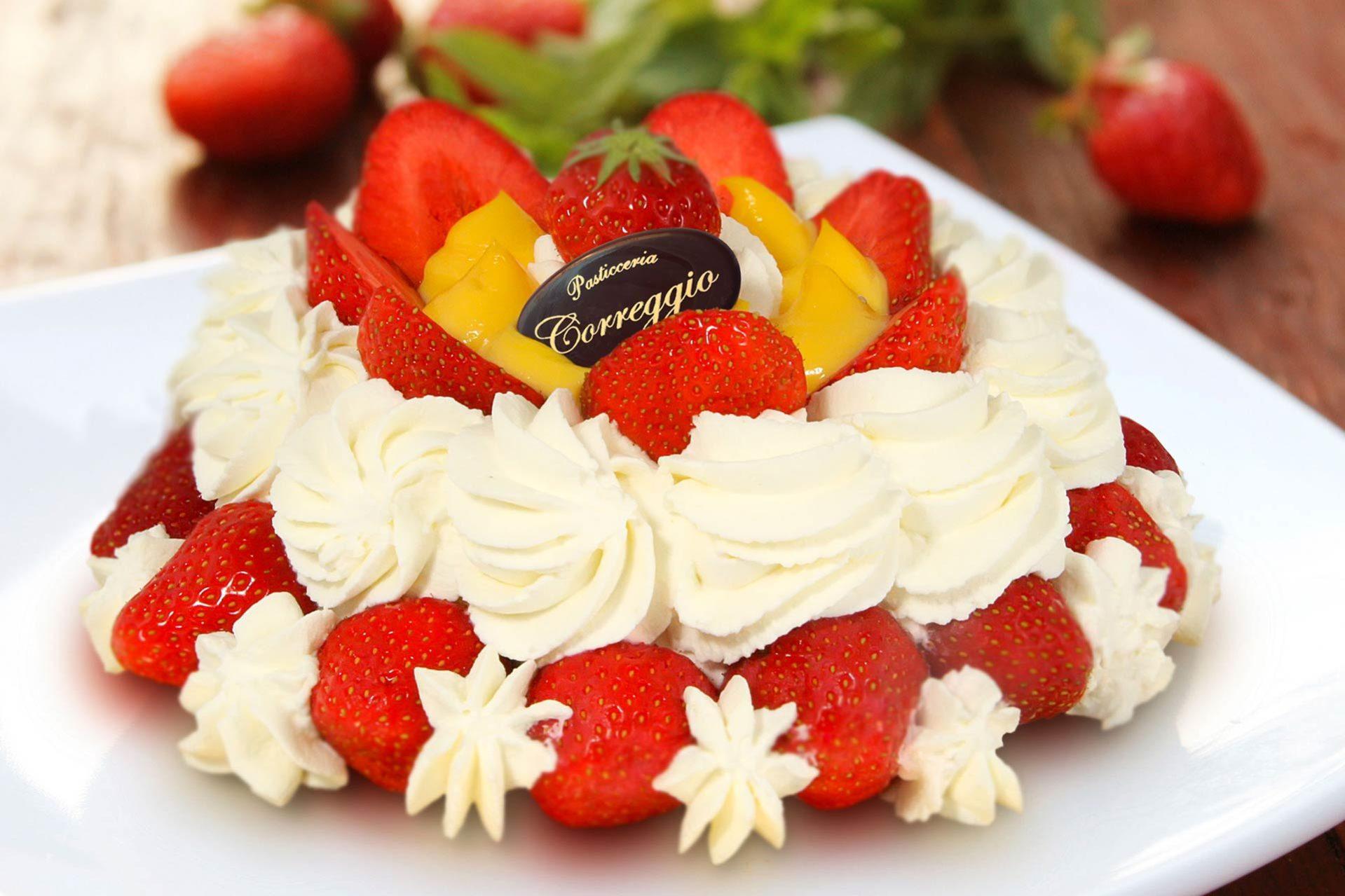 torta fragola panna